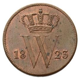 1 Cent 1823 Willem I Pr