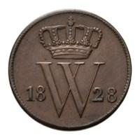 1 Cent 1828 Willem I ZFr+