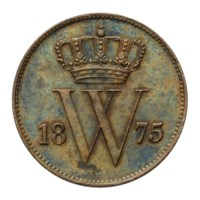 1 Cent 1875 Willem III FDC