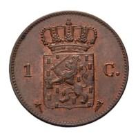 1 cent 1875 Willem III Pr