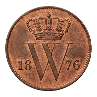 1 Cent 1876 Willem III FDC-