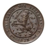 1 Cent 1878 Willem III Pr-