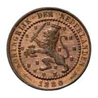 1 cent 1880 Willem III FDC