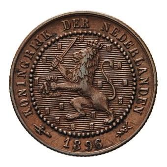 1 Cent 1896 Wilhelmina ZFr