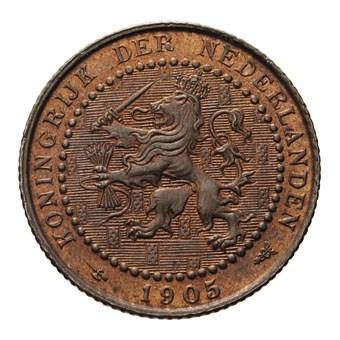 1 Cent 1905 Wilhelmina FDC