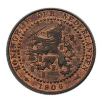 1 Cent 1906 Wilhelmina FDC-