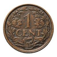 1 Cent 1918 Wilhelmina ZFr+