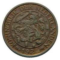 1 Cent 1924 Wilhelmina ZFr+
