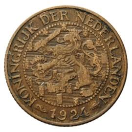 1 Cent 1924 Wilhelmina ZFr