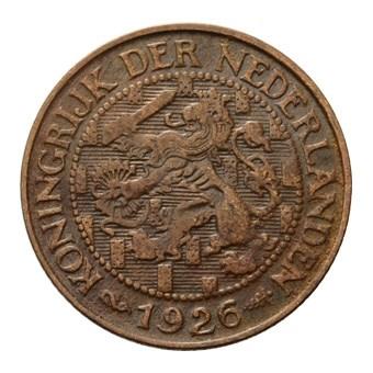 1 Cent 1926 Wilhelmina ZFr+