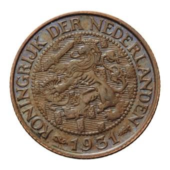 1 Cent 1931 Wilhelmina ZFr+