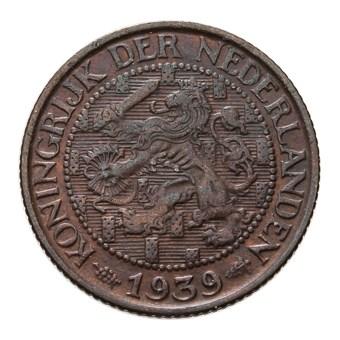 1 Cent 1939 Wilhelmina ZFr