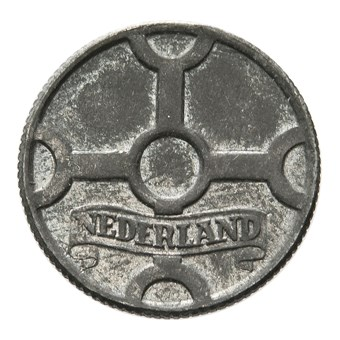 1 Cent 1943 Duitse bezetting zink FDC-