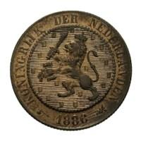 2 1/2 Cent 1886 Willem III Pr+