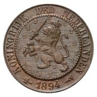 2 1/2 Cent 1894 Wilhelmina FDC