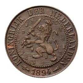 2 1/2 Cent 1894 Wilhelmina FDC-