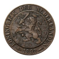 2 1/2 Cent 1898 Wilhelmina ZFr+