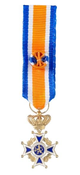 Miniatuur Oranje-Nassau Civiel Officier Heren in etui
