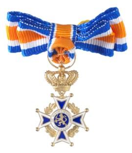 Miniatuur Oranje Nassau Civiel Officier Dames in etui