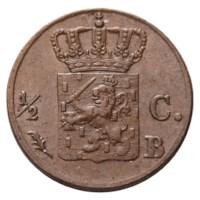 ½ cent 1823. Brussel.