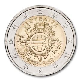 "Slovenië 2 Euro ""10 Jaar Euro"" 2012"