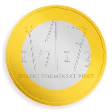 "Slovenië 3 Euro ""Tolmin"" 2013 UNC"