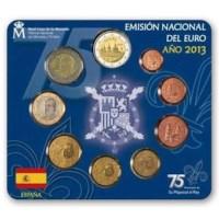 "Spanje BU Set 2013 met 2-Euro ""El Escorial"""