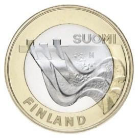 """Finland 5 Euro """"Karelia Architectuur 2013"""