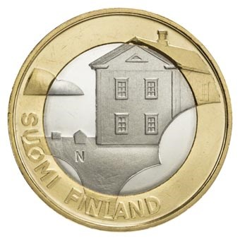 "Finland 5 Euro ""Ostrobothnia Architectuur"" 2013"