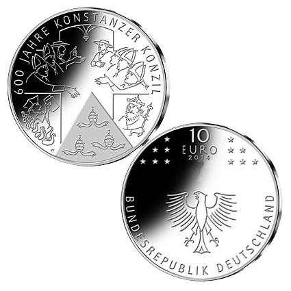 "Duitsland 10 Euro ""Konstanzer Konzil"" 2014"