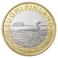 """Finland 5 Euro """"Dieren Savonia"""" 2014"""