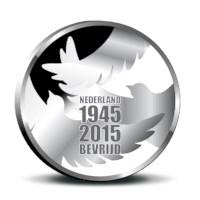 Vrede en Vrijheid Penning 2015 in coincard