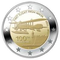 "Malta 2 Euro ""First Flight"" 2015 UNC"