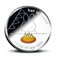 60 jaar nijntje penning 2015 BU-kwaliteit in coincard