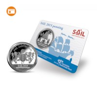SAIL Amsterdam 2015 Penning BU-kwaliteit in coincard
