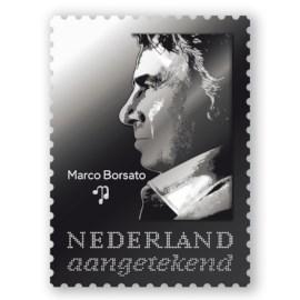 """Zilveren Postzegel """"25 Jaar Marco Borsato"""""""