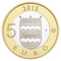 Finlande 5 euros « Animals Uusimaa » 2015