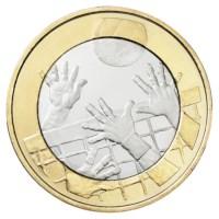 """Finland 5 Euro """"Volleybal"""" 2015"""