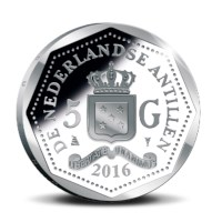 5 guilders Curaçao and Saint Martin 2016 Silver Proof - George Maduro