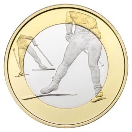 "Finland 5 Euro ""Cross Country Skiing"" 2016"