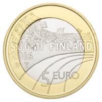 "Finland 5 Euro ""Cross Country Skiing"" 2016"