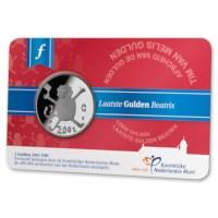 Laatste Gulden Beatrix 2001 UNC in coincard