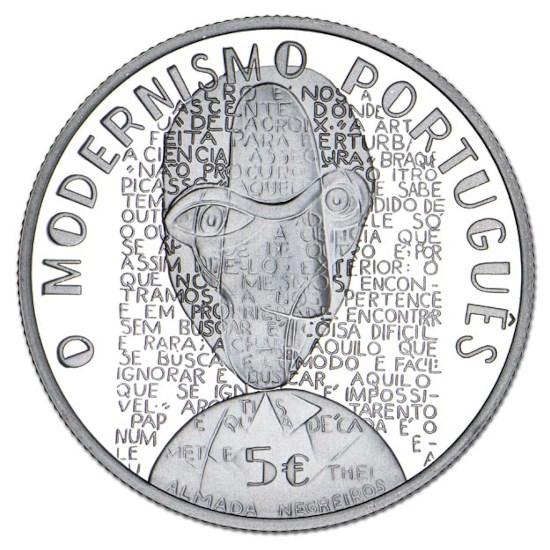 "Portugal 5 Euro ""Modernisme"" 2016"
