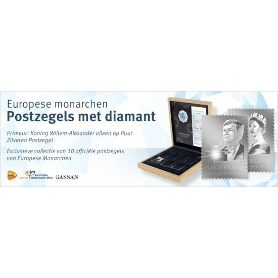 Europese Monarchen: Postzegels met diamant