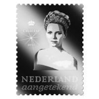 Europese Royals: zilveren postzegels met diamant
