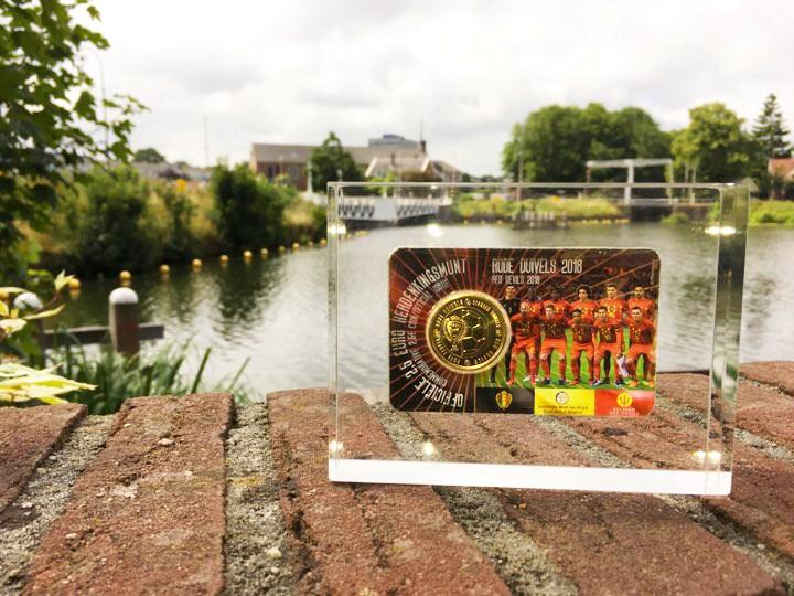 Qui a gagné la pièce de 2,5 euros « Diables rouges » en coincard, coulée dans de l'acrylique ?
