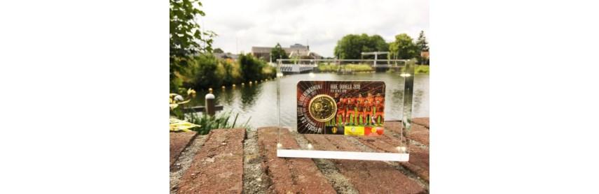 Wie heeft de unieke in acryl gegoten Rode Duivels 2,5 Euro in coincard gewonnen?