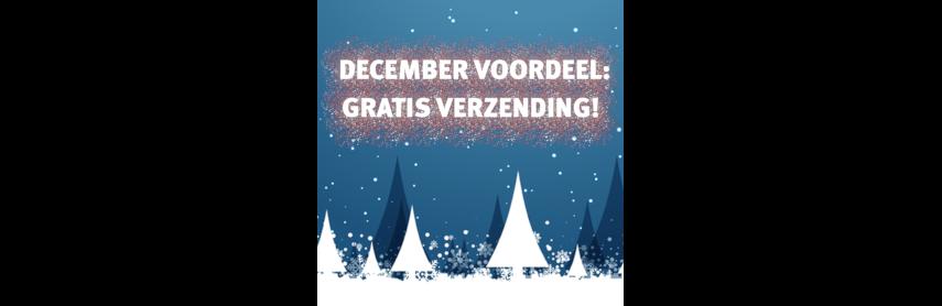 De hele maand december geen verzendkosten vanaf €50,-